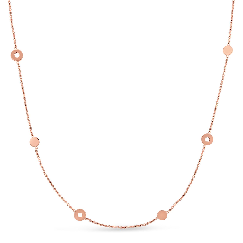 Fancy Circles Necklace 18k Rose Gold