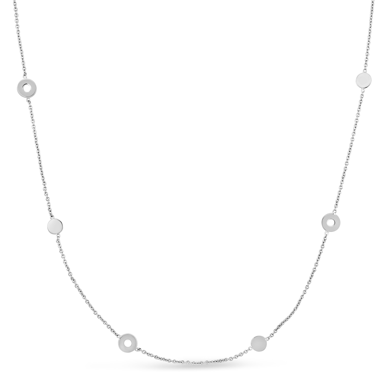 Fancy Circles Necklace 18k White Gold