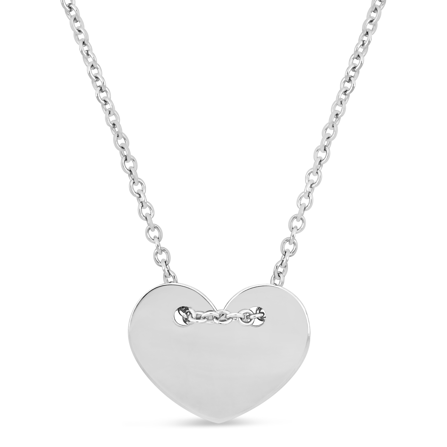 Heart Necklace 18k White Gold