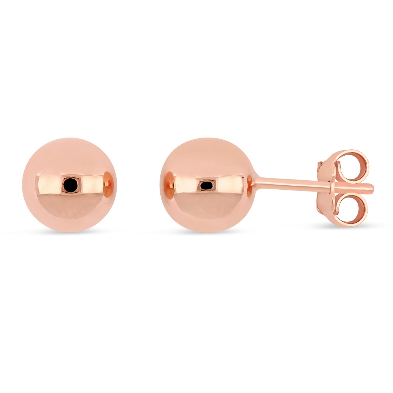 Small Ball Earrings 18k Rose Gold