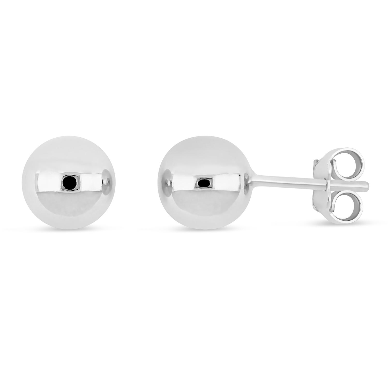 Small Ball Earrings 18k White Gold
