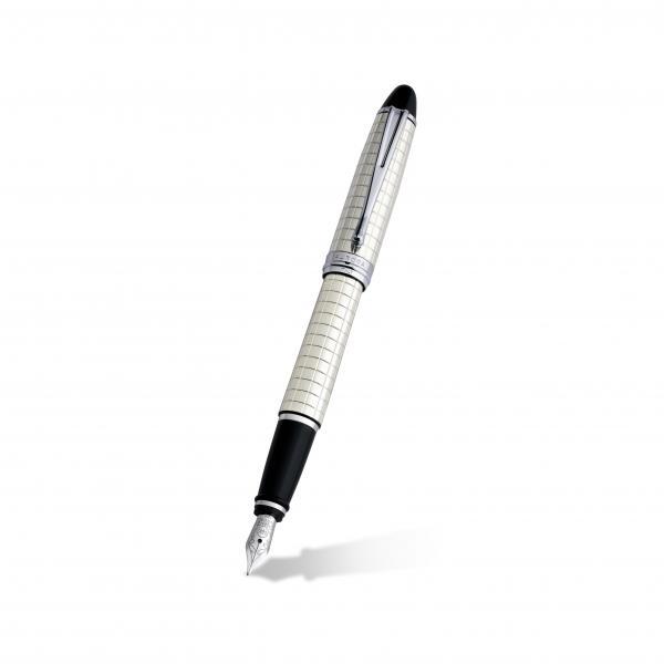 Aurora Ipsilon 14k White Gold & Sterling Silver Fountain Pen