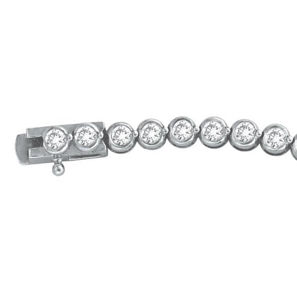 Diamond Bezel-Set Tennis Bracelet in 14K White Gold (2.00ct)