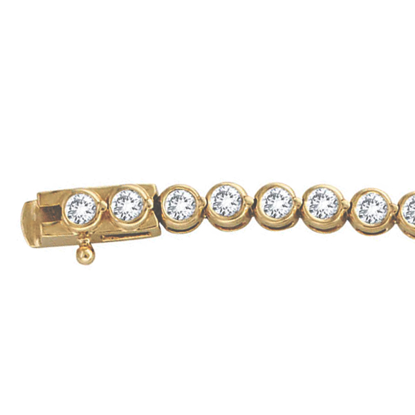Diamond Bezel-Set Tennis Bracelet in 14K Yellow Gold (2.00ct)