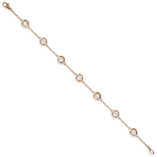Diamonds by The Yard Bezel-Set Bracelet 14K Rose Gold (1.50ct)