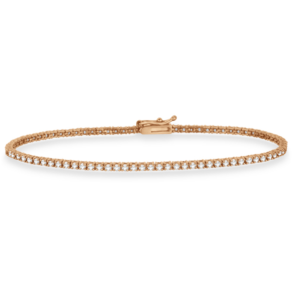 Eternity Diamond Tennis Bracelet 14k Rose Gold (1.00ct)