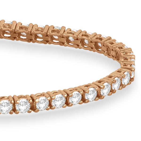 Eternity Diamond Tennis Bracelet 14k Rose Gold (5.51ct)