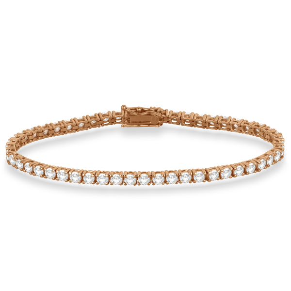 Eternity Diamond Tennis Bracelet 14k Rose Gold (7.08ct)