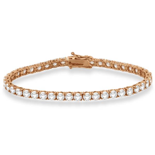 Eternity Diamond Tennis Bracelet 14k Rose Gold (10.01ct)