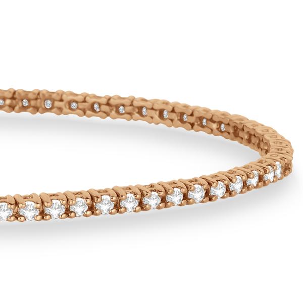 Eternity Diamond Tennis Bracelet 14k Rose Gold (2.10ct)