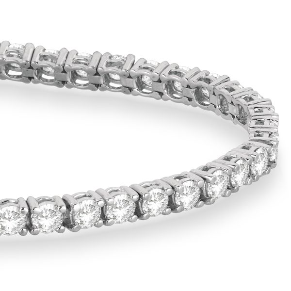 Eternity Diamond Tennis Bracelet 14k White Gold (5.51ct)