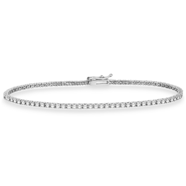Eternity Diamond Tennis Bracelet 14k White Gold 2 10ct