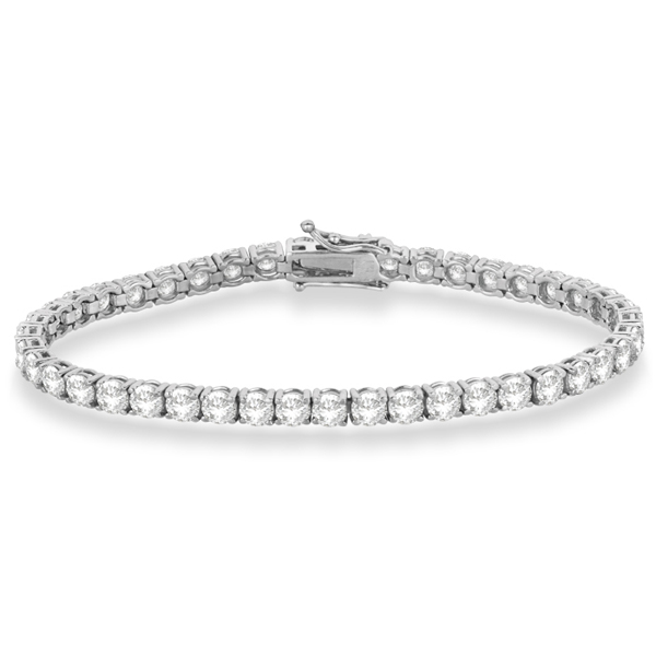 Eternity Diamond Tennis Bracelet 14k White Gold (10.01ct)