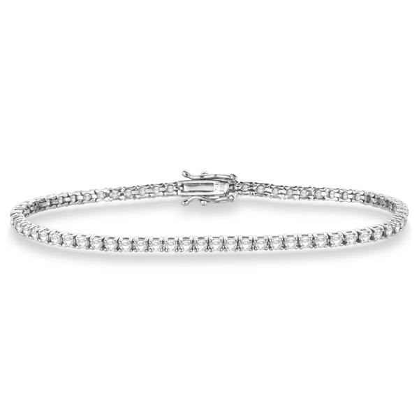 Eternity Diamond Tennis Bracelet 14k White Gold (3.00ct)