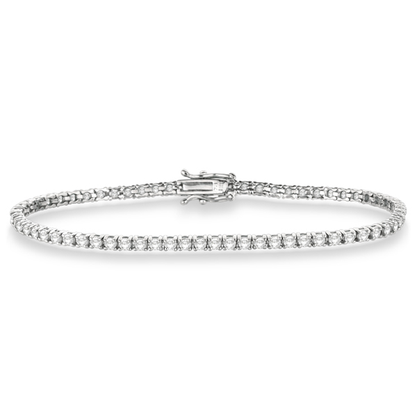 Eternity Diamond Tennis Bracelet 14k White Gold (3.51ct)