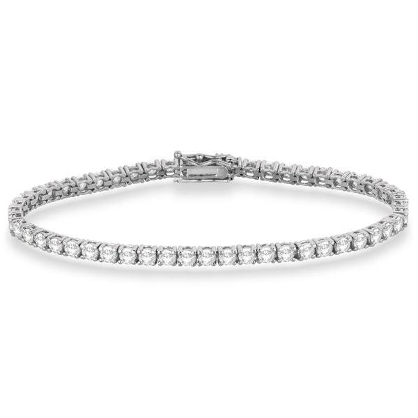 Eternity Diamond Tennis Bracelet 14k White Gold (4.13ct)