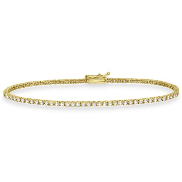 Eternity Diamond Tennis Bracelet 14k Yellow Gold (1.00ct)