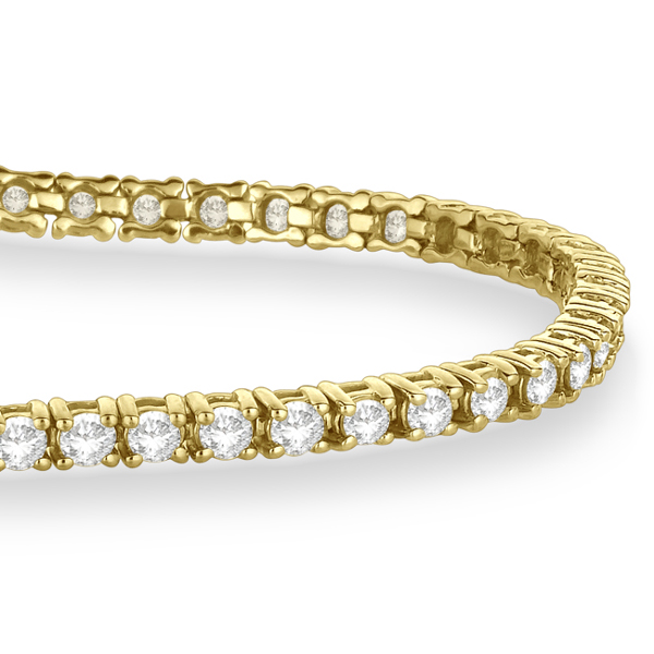 Eternity Diamond Tennis Bracelet 14k Yellow Gold (3.00ct)