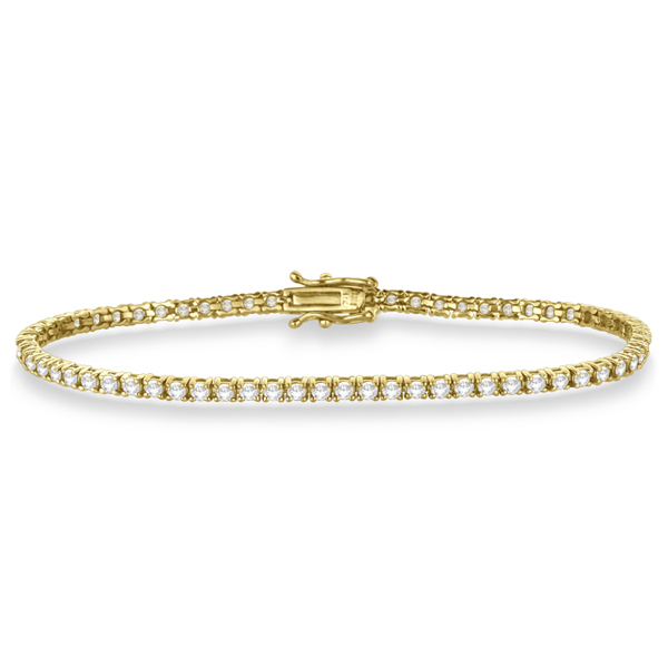 Eternity Diamond Tennis Bracelet 14k Yellow Gold (3.51ct)