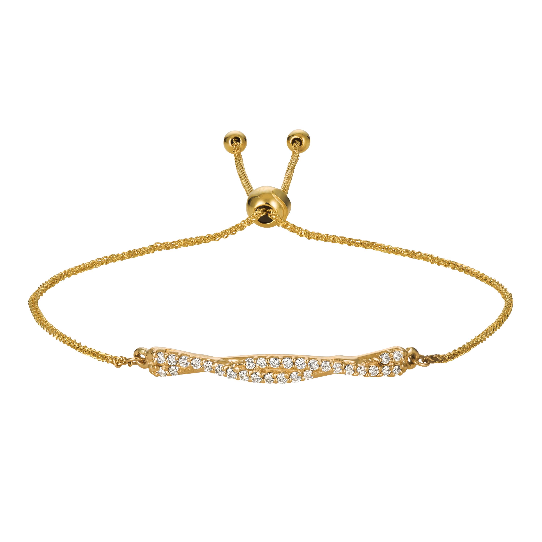 Flexible Bolo Twisted Diamond Bracelet 14k Yellow Gold (0.25ct)