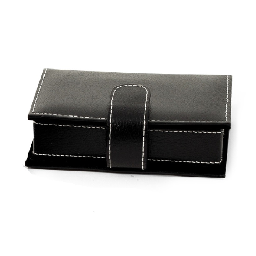 Leather Travel Jewelry Case with Mirror