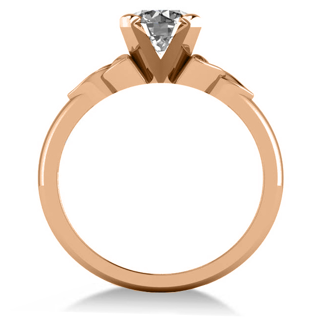 celtic love knot solitaire engagement ring setting 14k