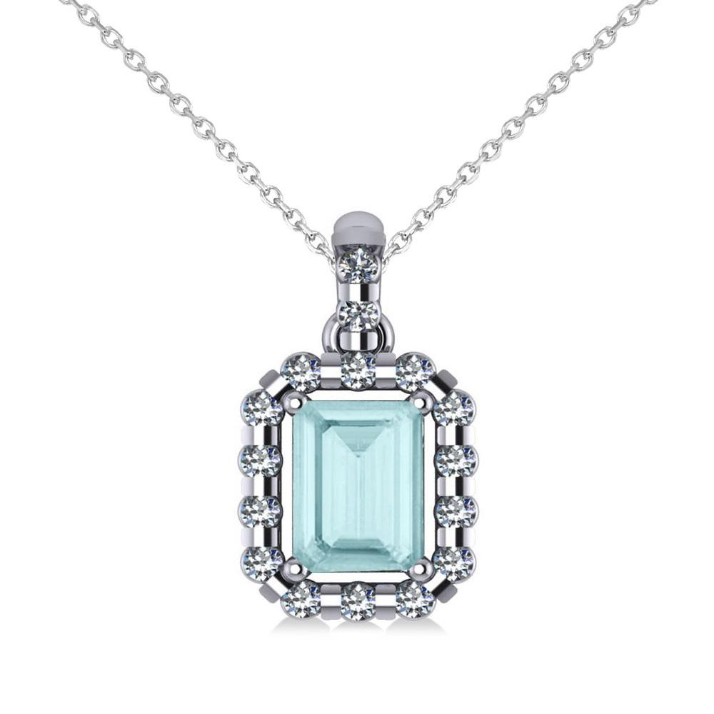 Allurez 18kt White Gold Emerald-Cut Tanzanite & Diamond Pendant Necklace - 16 inches IbPgnWkDR0