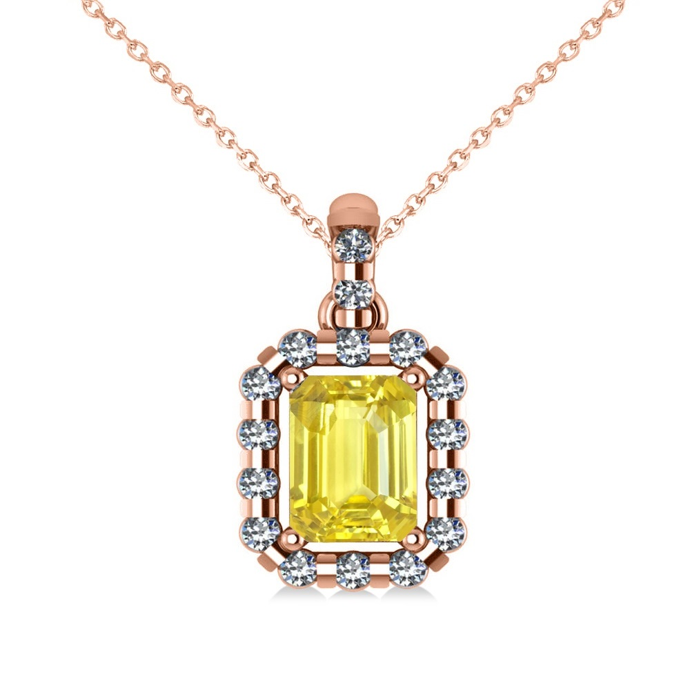 naples pendant i yellow diamond carat and sapphire