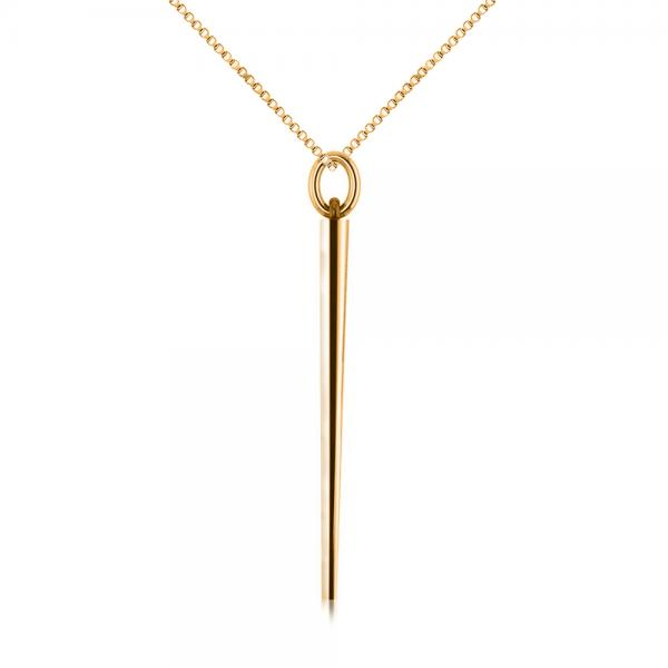 Spike Pendant Necklace in Plain Metal 14k Yellow Gold