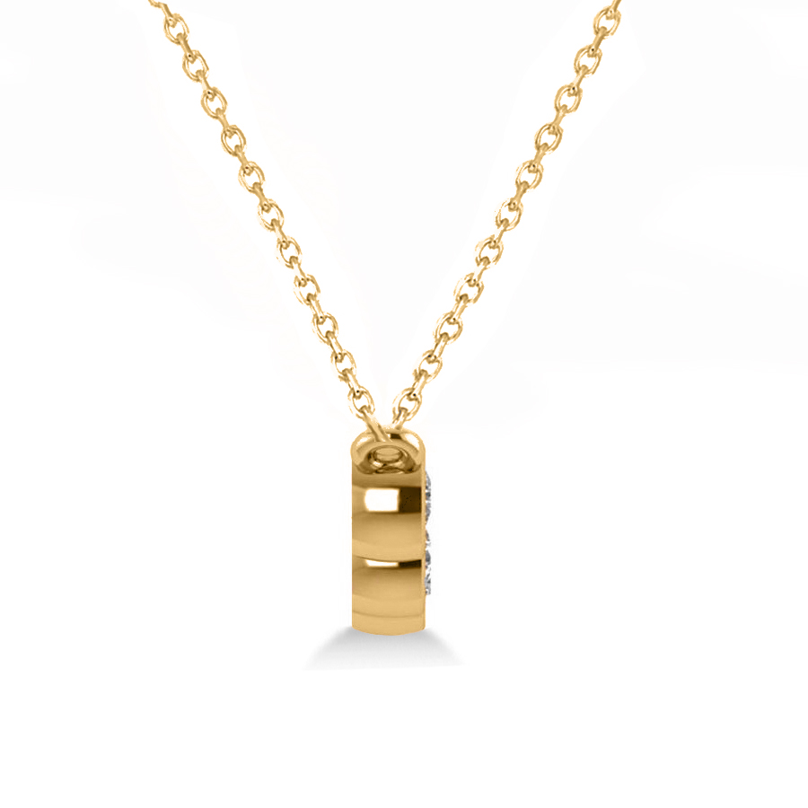 diamond amp blue sapphire 5stone pendant necklace 14k