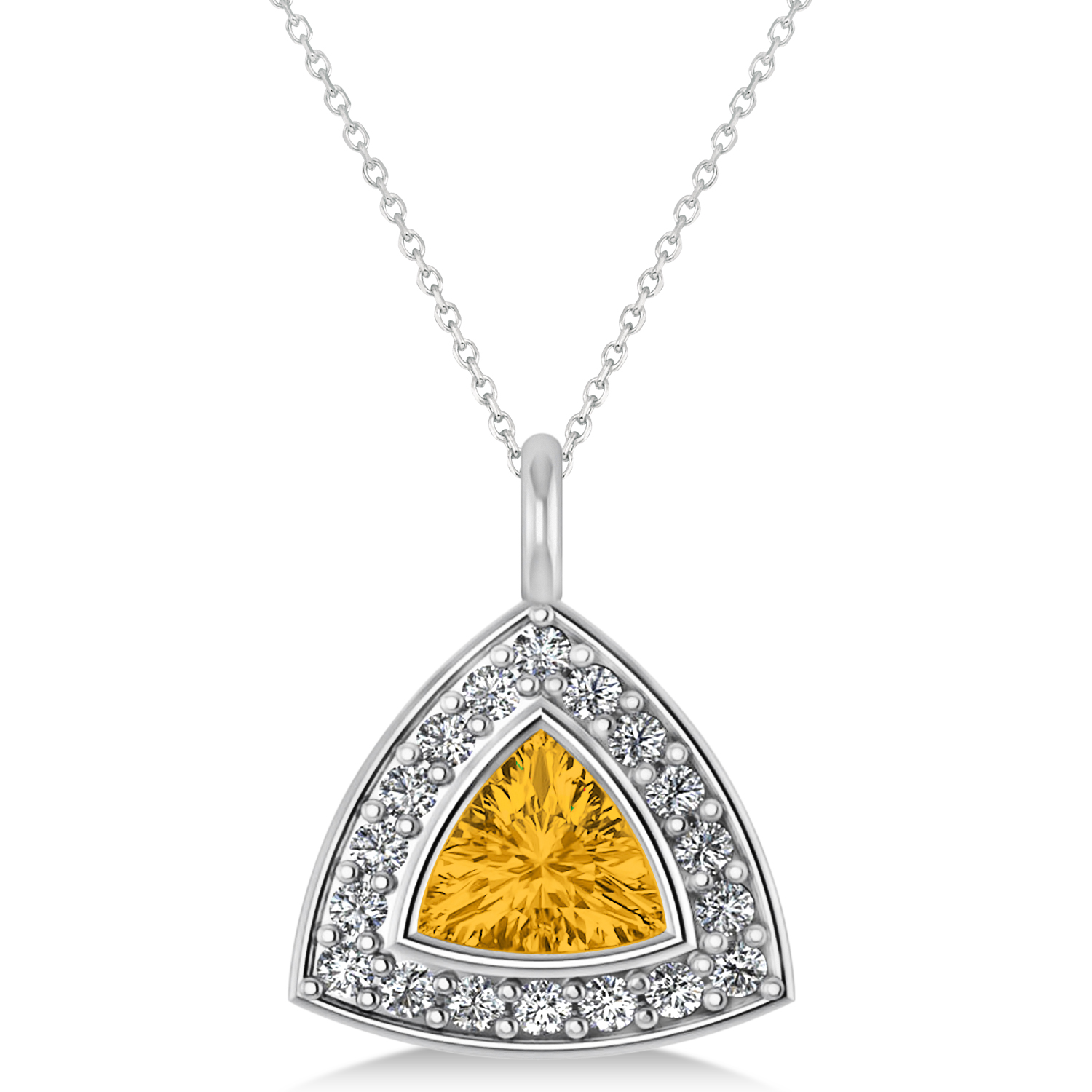 image cluster and yellow women diamond gold sapphire ramsdens pendants pendant