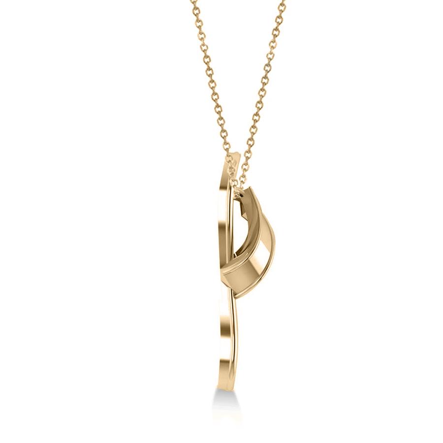 summer flip flop pendant necklace in 14k yellow gold allurez