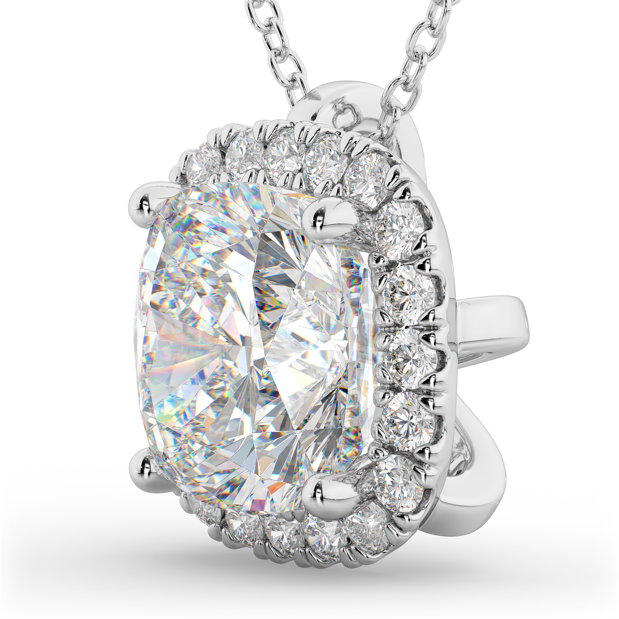 pendant diamond double iroff gold necklaces cut jeweler round halo best with alpharetta white shop cushion