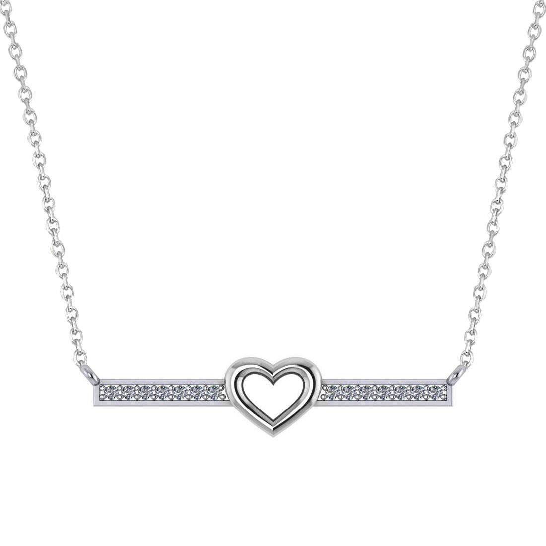 diamond bar pendant necklace w heart 14k white gold 0. Black Bedroom Furniture Sets. Home Design Ideas