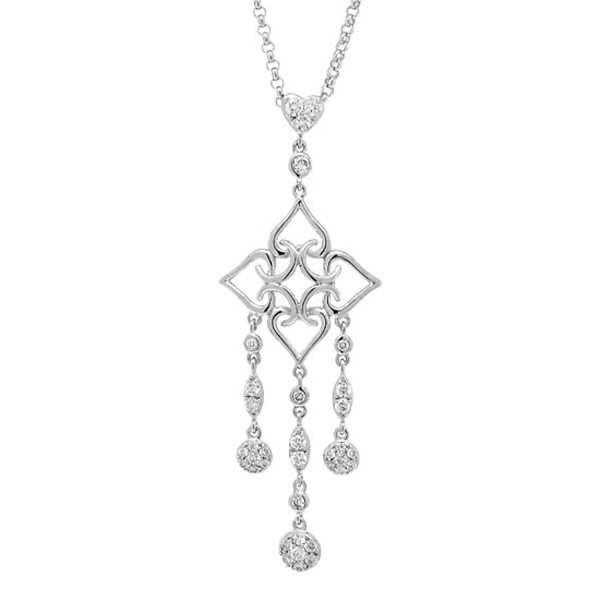 0.67ct 18k White Gold Diamond Necklace