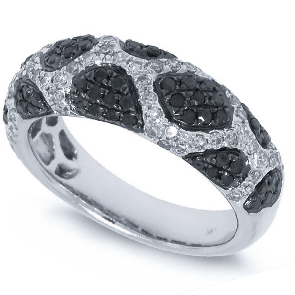 1.00ct 14k White Gold Black & White Diamond Ring