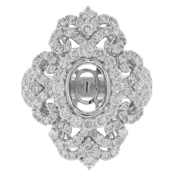2.72ct 18k White Gold Diamond Semi-mount Ring