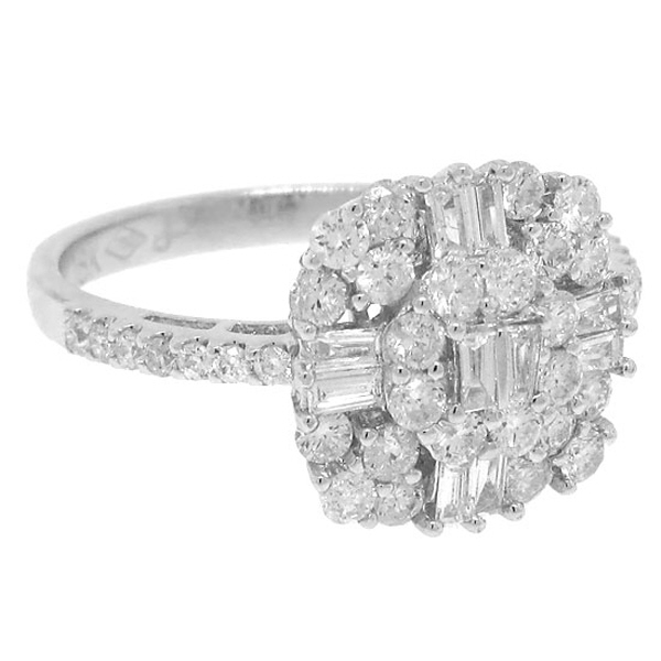 1.12ct 18k White Gold Diamond Lady's Ring