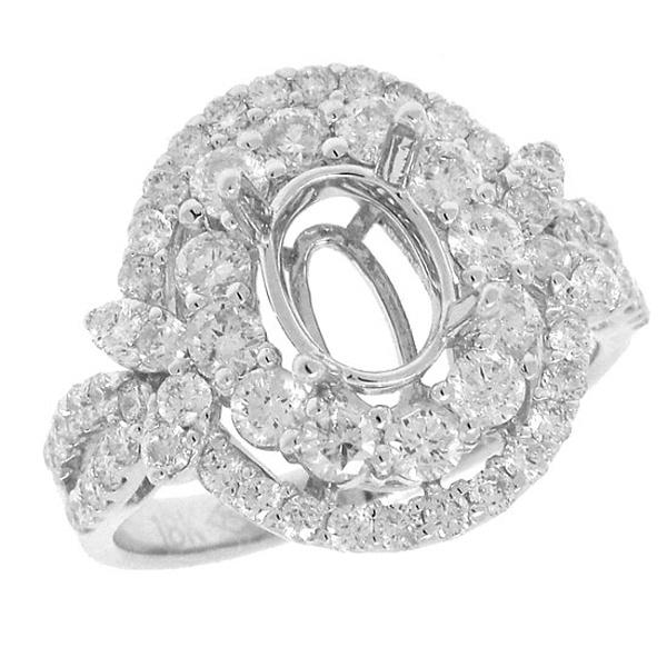 1.52ct 18k White Gold Diamond Semi-mount Ring