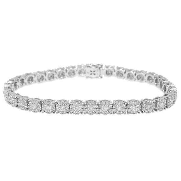 6.19ct 18k White Gold Diamond Lady's Bracelet