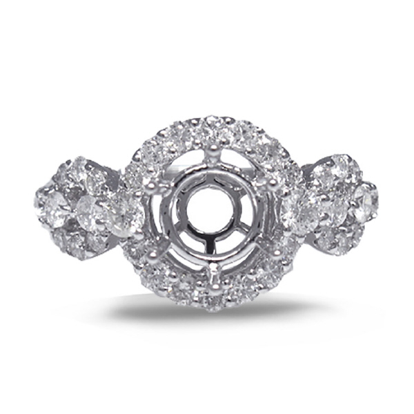 0.80ct 18k White Gold Diamond Semi-Mount Ring