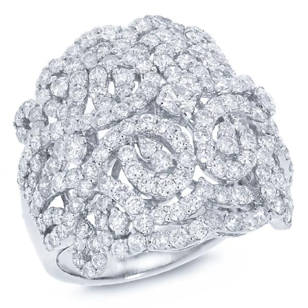 3.25ct 18k White Gold Diamond Lady's Ring