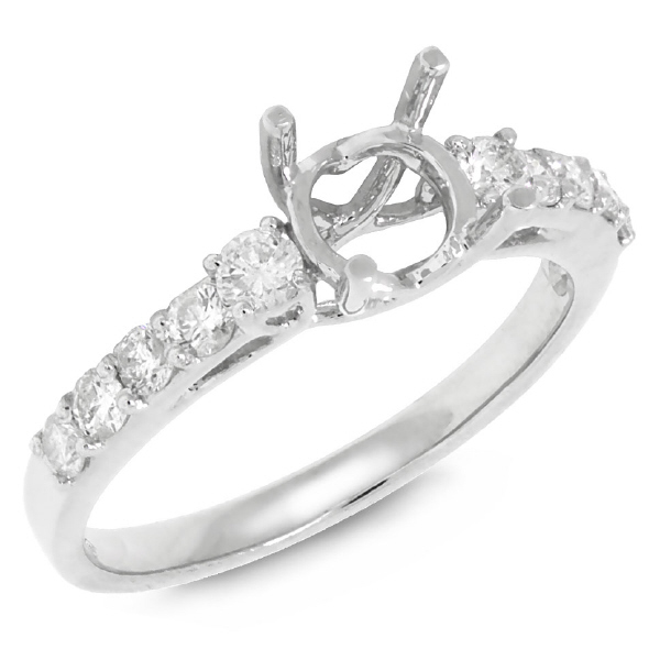 0.50ct 18k White Gold Diamond Semi-mount Ring