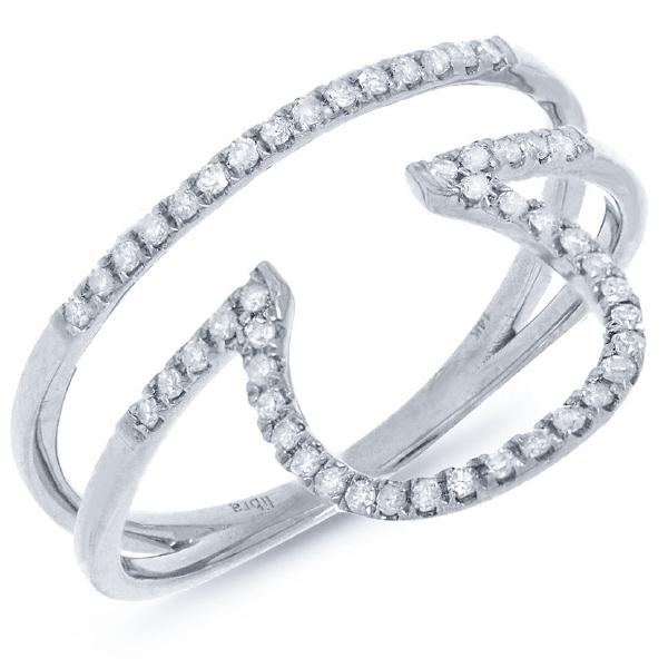 0.19ct 14k White Gold Diamond Zodiac Libra Ring
