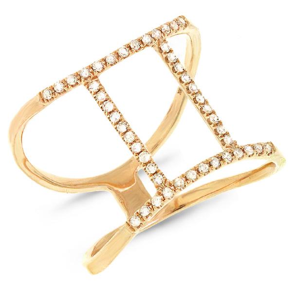0.18ct 14k Yellow Gold Diamond Zodiac Gemini Ring
