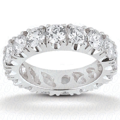 Diamond Eternity Wedding Band 14k White Gold (0.84ct)