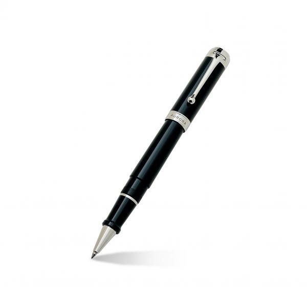 Aurora Talentum Classic 14k White Gold & Black Rollerball Pen