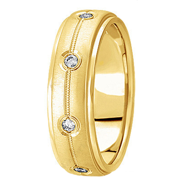 Diamond Wedding Ring in 14k Yellow Gold for Men (0.40 ctw)