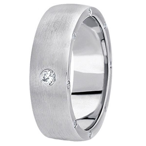 Men's Diamond Wedding Band in 14k White Gold (0.34 ctw)