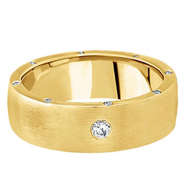 Men's Diamond Wedding Band in 18k Yellow Gold (0.34 ctw)